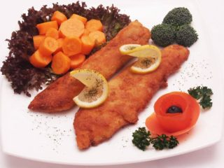 Fried catfish fillets - meal delivery