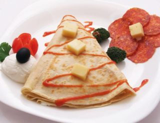 Pancake with kulen delivery