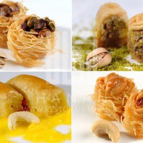 Mix of Lebanese baklawas