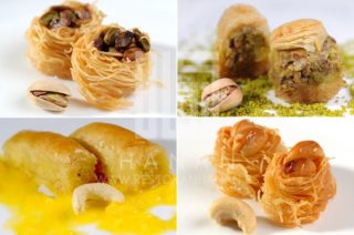 Mix of Lebanese baklawas delivery