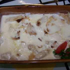 Chicken with smoked cheese