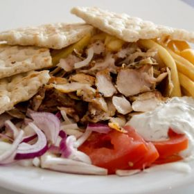 Pork gyros portion delivery
