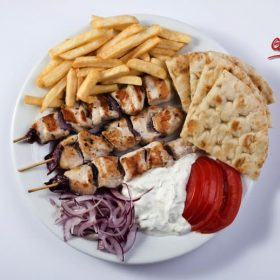 Chicken gyros portion