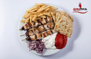 Chicken gyros portion delivery