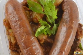 Baked beans with smoked sausage delivery