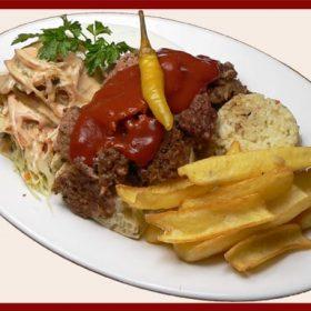 Kebab Iskender obrok od junećeg mesa