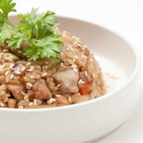 Gohan rice with chicken