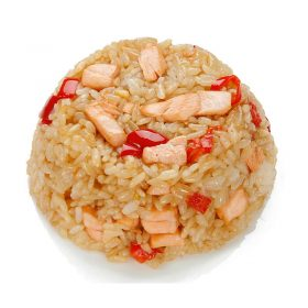 Rice Gohan with salmon and tuna