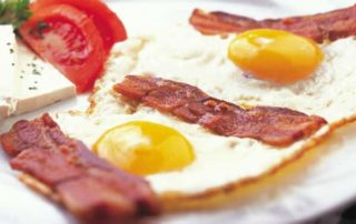Eggs with panchetta delivery