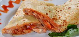 8.Pancake grilled chicken, sour cream, cheese, grilled mushrooms delivery