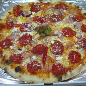 Serbian pizza