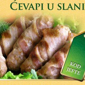 Ćevapi u slanini