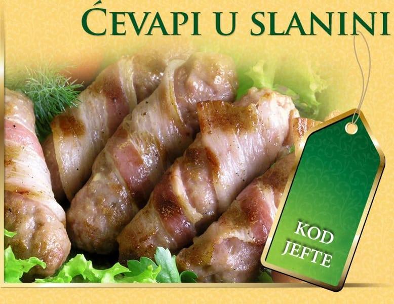 Ćevapi u slanini dostava