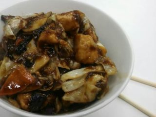 12. Chicken with mushrooms and seasonal vegetables in soy sauce delivery