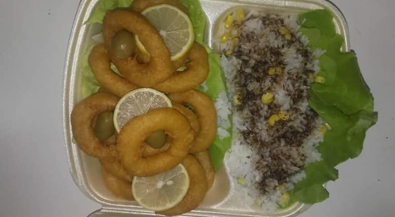 Fried squid delivery