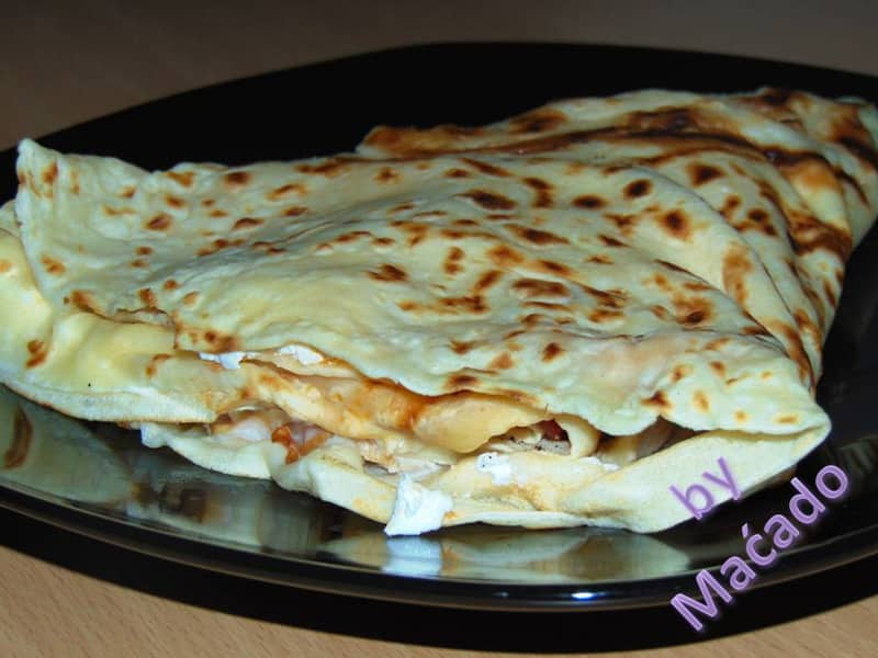 Pancake kulen, cheese, sour cream delivery