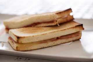 Toast sandwich with ham delivery