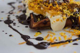 Choco orange waffle delivery