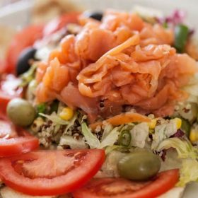 Salmon salad delivery
