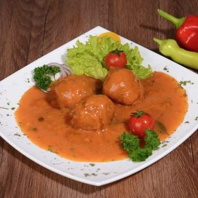 Shepherd's meatballs in tomato sauce delivery