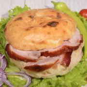Shepherds bun with rolled pork