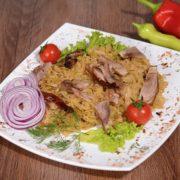 Shepards fried sauterkraut with knuckel