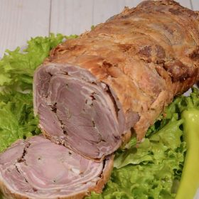 Shepherd's rolled lamb
