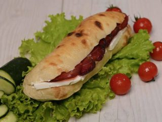 Shepherd's flat bread with prosciutto and cheese Čobanov odmor delivery