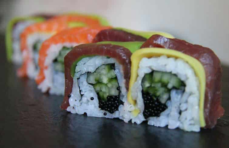 Rainbow rolls delivery