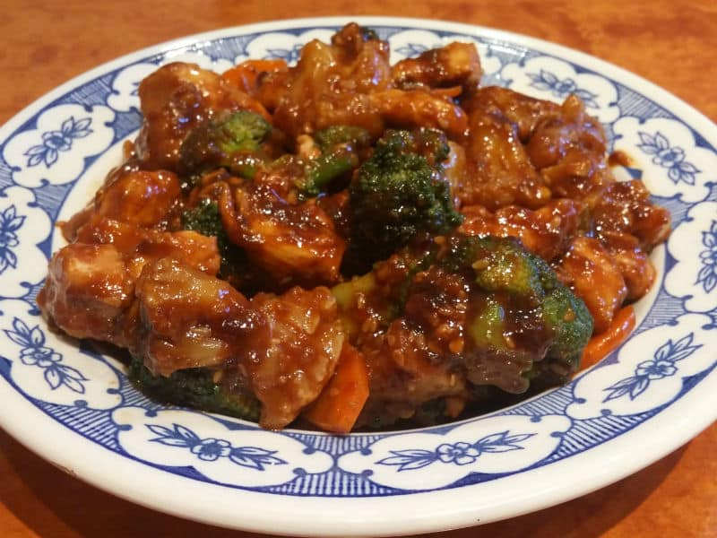 Chicken with cauliflower, broccoli and carrot in oyster sauce delivery