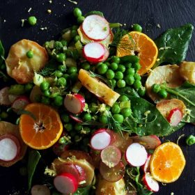 Spring peas potato salad