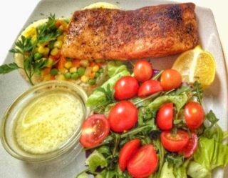 Salmon filette a la Garden delivery