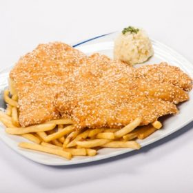 Fried chicken breasts with sesame delivery