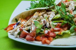 Tortilla chicken salad Garden food & bar delivery