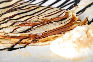 Pancakes with nutella and plazma cakes delivery