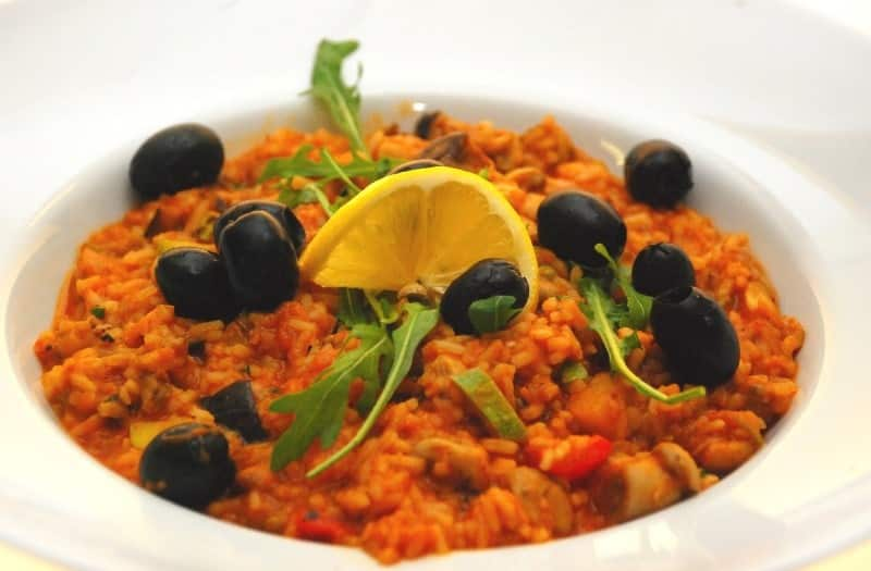 Vegetable risotto delivery