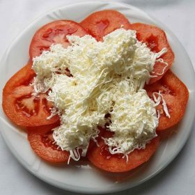 Tomato with cheese