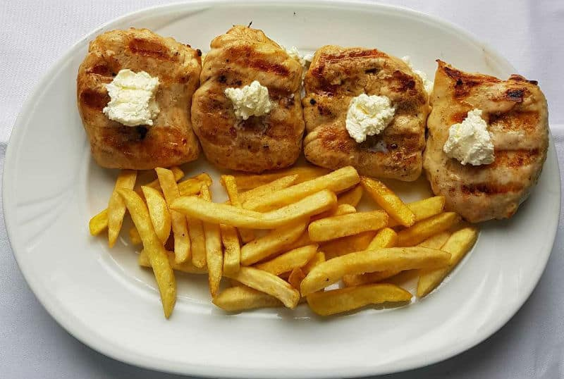 Chicken medallions on kaymak delivery