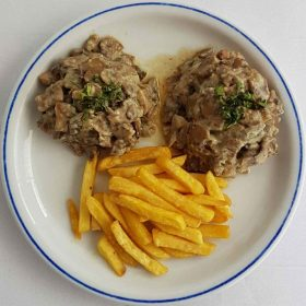 Medallions with mushrooms