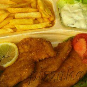 Fries chicken breasts