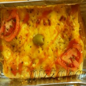 Baked crepe proschiutto