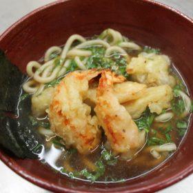 Ebi tempura udon with shrimp delivery