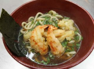 Ebi tempura udon with shrimp delivery