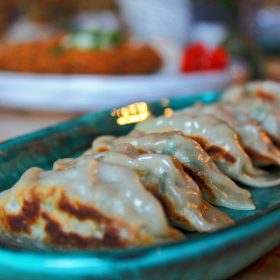Vegetable gyoza delivery