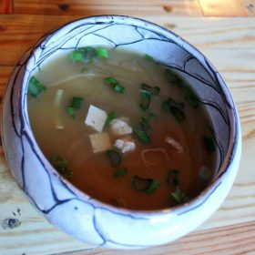 Miso soup delivery