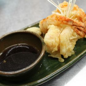Shrimp tempura delivery