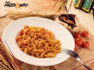 Gamberetti e pomodorini Agi Pasta Maksima Gorkog delivery