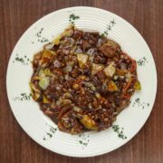 Sweet sour and spicy veal