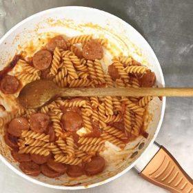 Pork sausage pasta delivery