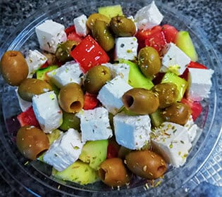 Greek salad Bambola pizzeria delivery